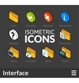 Isometric outline icons set 31 vector image vector image
