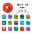 japan set icons in flat style big collection vector image vector image