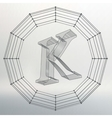 letter K Fonts of Mesh vector image vector image