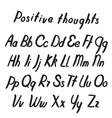 Letters of the alphabet written with a brush vector image vector image