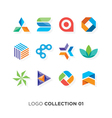 logo collection 01 vector image vector image