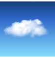 lonely cloud vector image