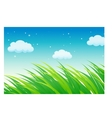 Lush Grass Fields vector image vector image