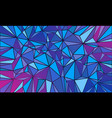 magenta blue triangle abstract background vector image vector image