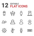 member icons vector image vector image