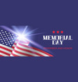 memorial day remember and honor banner template vector image