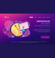 menopause concept landing page vector image vector image