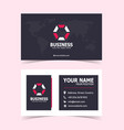 modern corporate business card print template vector image vector image