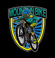 mountain bike logo design vector image