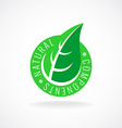 Natural leaf badge for package design vector image