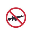 no guns sign with automatic rifle sticker vector image