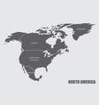north america map vector image vector image