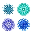 Ornament round set with mandala vector image vector image