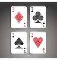 Poker set in ethnic style vector image vector image