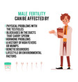 poster causes male infertility with women vector image vector image