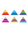 Pyramid chart 1 vector image vector image