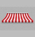 realistic outdoor awning vector image vector image