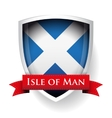 Scotland Flag with Isle of Man sign vector image