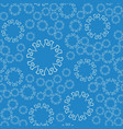 seamless blue flower mandala for print on textile vector image vector image