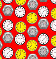 Seamless pattern clock vector image vector image