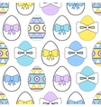 Seamless pattern with Easter eggs Decorative vector image