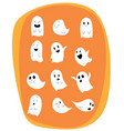 set of ghosts for halloween design vector image vector image