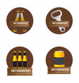 set of oktoberfest labels vector image