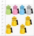 shaker with on paper vector image