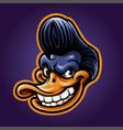 smile duck head mascot esport logo vector image