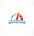 speed meter book logo vector image