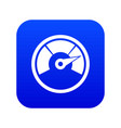 speedometer icon digital blue vector image vector image