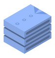 stack of shirt icon isometric style vector image