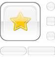 Star white button vector image vector image