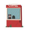 street coffee shop takeaway kiosk facade vector image vector image