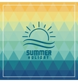 Summer design icon polygon graphic vector image vector image