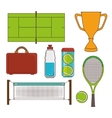 Tennis sport game vector image vector image