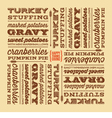 Thanksgiving greeting card with retro fonts vector image vector image