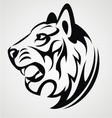 Tiger Head Tattoo Design vector image vector image