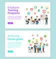 training programs and workteam achieving vector image vector image