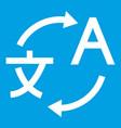 Translating icon white vector image