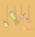 utensils and accessories for smoothies vector image