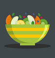 vegetarian salad icon flat style vector image
