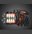 very angry black dog cartoon character vector image vector image