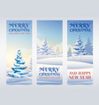 winter holidays vertical banners vector image vector image