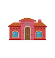 colorful mexican house mexico city facade cartoon vector image