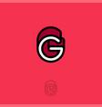 g monogram logo red vector image
