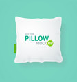 realistic detailed 3d template blank white pillow vector image