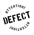 Defect stamp rubber grunge vector image