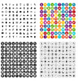 100 map icons set variant vector image vector image