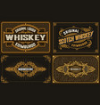 4 old labels for packing western style vector image vector image